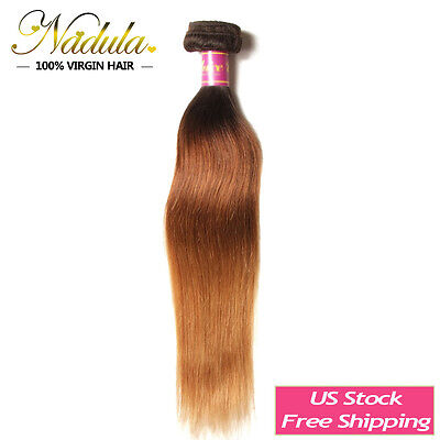 Malaysian Straight Hair Weave 100g/bundle Ombre Three Tone Human Hair Extensions