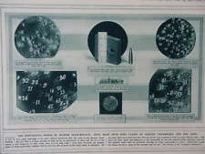 1915 PENETRATION OF BULLETS TESTS; GERMAN OBSERVATION POST WWI WW1 DOUBLE PAGE