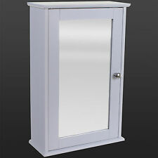 bathroom wall cabinet single mirror door white wooden cupboard rh ebay co uk Bathroom Wall Storage White Cabinets Toilet Wall Cabinet White