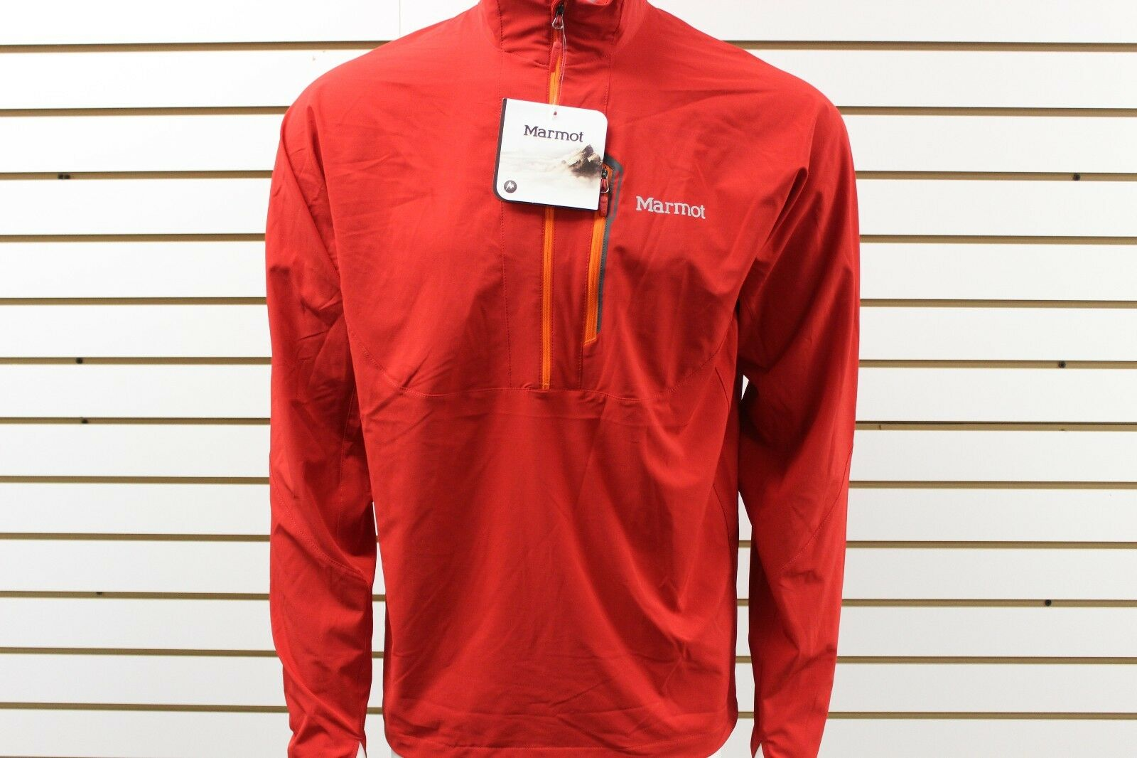 Men Marmot M3 Softshell Stretch Light 1 2 Zip New Team Red 50780 New With Tag