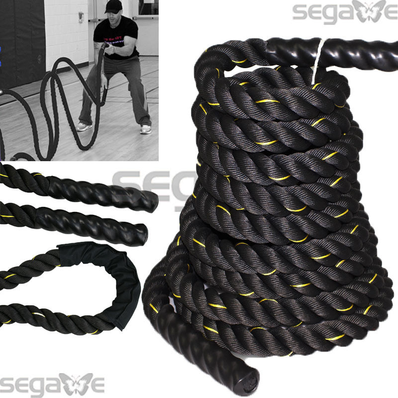 1.5  50FT Poly Dacron Battle Rope Exercise Crossfit Strength Training Undulation
