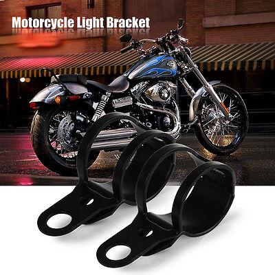 2X Motorcycle Universal Black Mini Turn Signal Blinker Light Mount Bracket Set