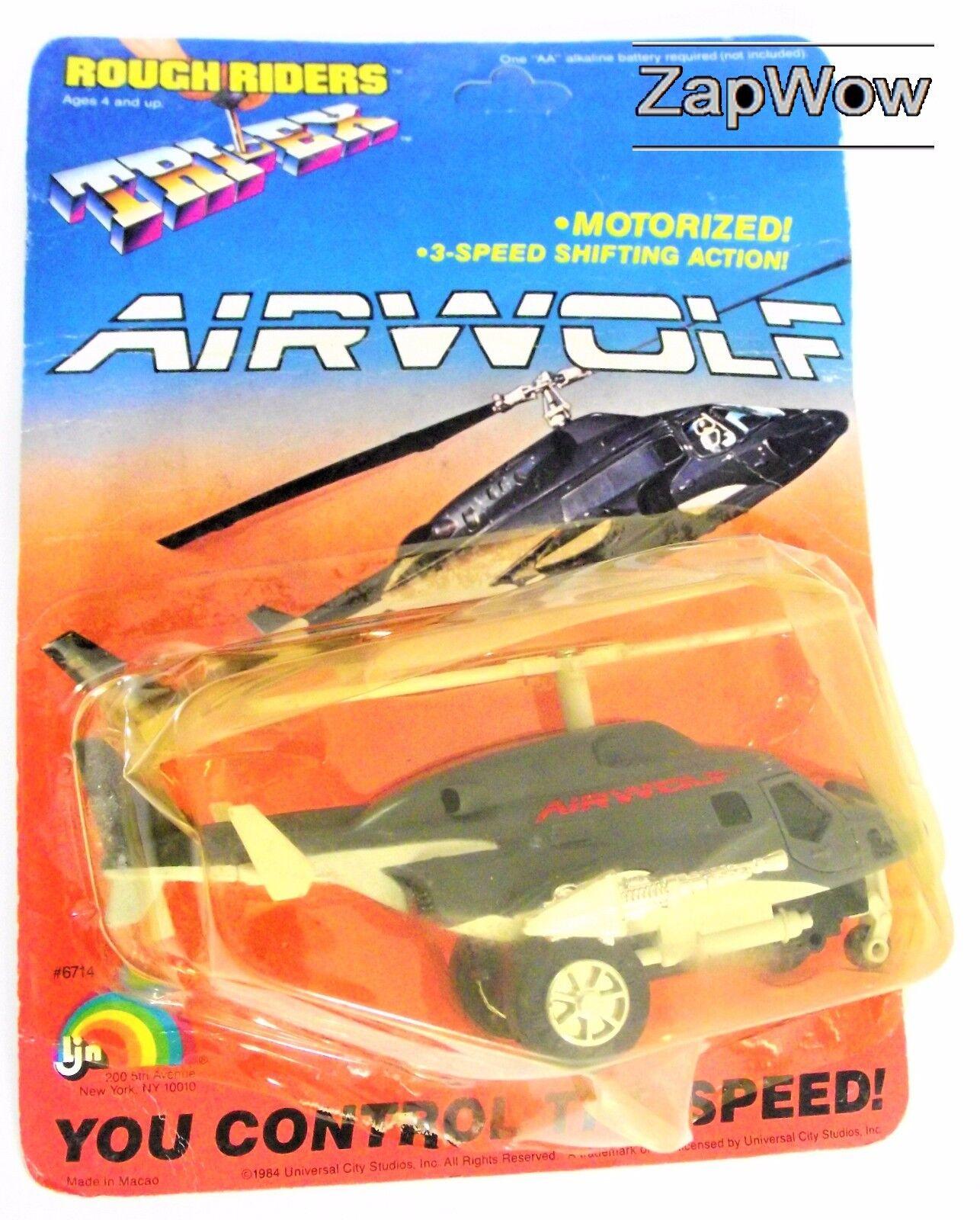 AIRWOLF 1984 Rough Riders Tri -Ex militär- Bell 222 Helikopter årgång TV MoC
