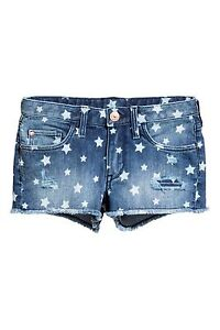 f857ebc3c6 Women's/Girl's/Junior's H&M Patterned Denim Shorts Size 13-14 Y ...