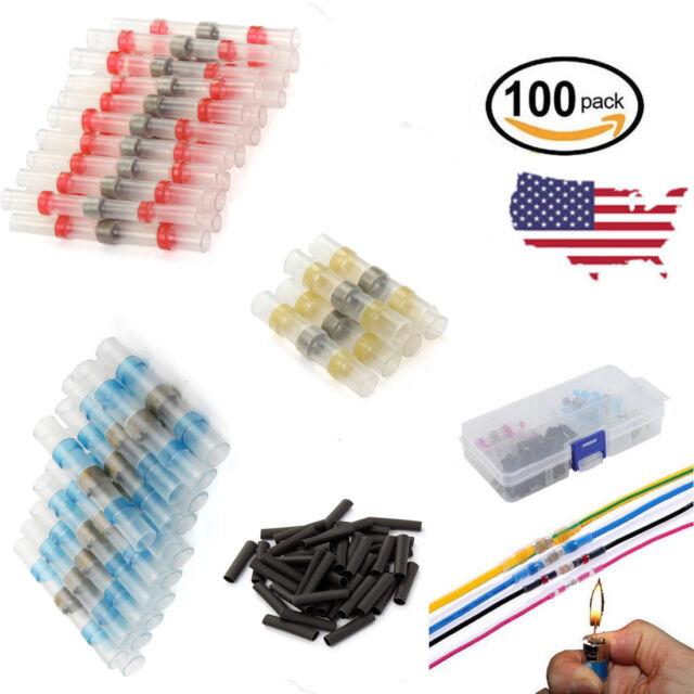 50pcs Welded Seal Wire Connectors Sopoby Heat Shrink Butt Connectors Waterproof