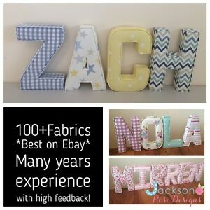 Image Is Loading Fabric Letters Wall Art Handmade Nursery Name Personalised