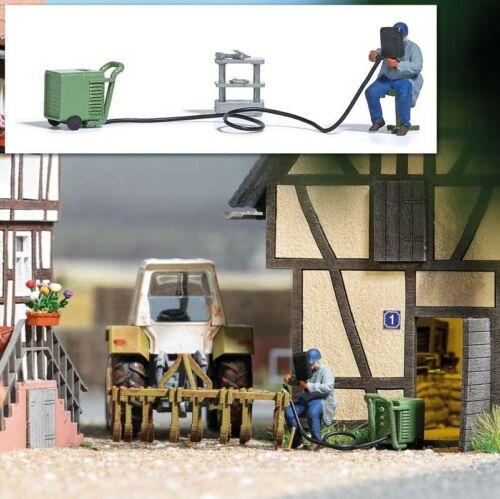 Busch 7810 Action Set Elektroschweißgerät Spur H0