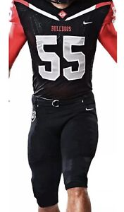 wholesale dealer c45fb e3535 Details about NEW Georgia Bulldogs Nike Authentic Full Football Uniform  Large Jersey & Pants