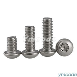 M4 M5 M6 M8 STAINLESS HEX SOCKET BUTTON HEAD BOLTS SCREWS SCREW ISO7380