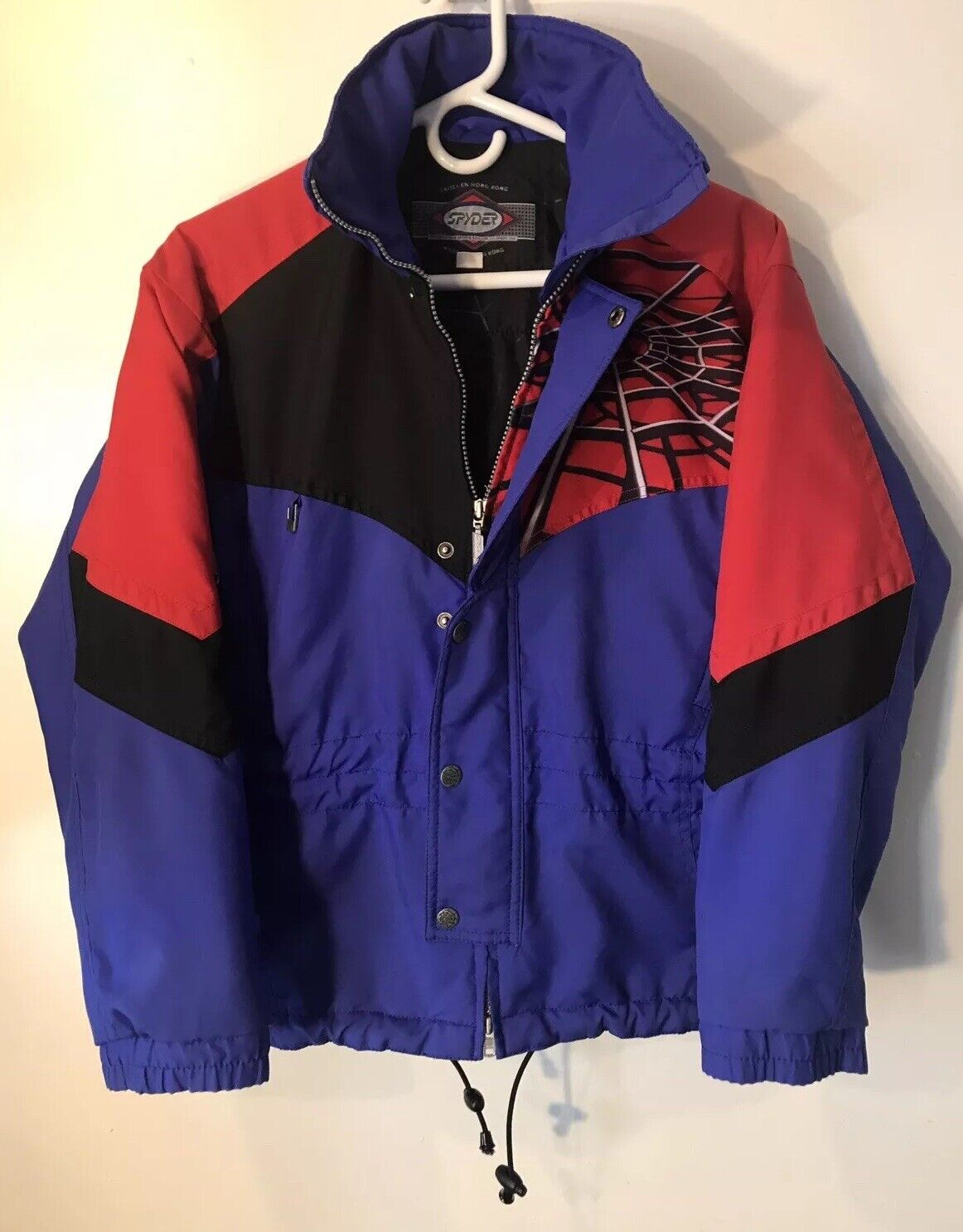 Vintage SPYDER Web Ski Coat Snowboard Jacket Junior Größe 10 Cadets VTG