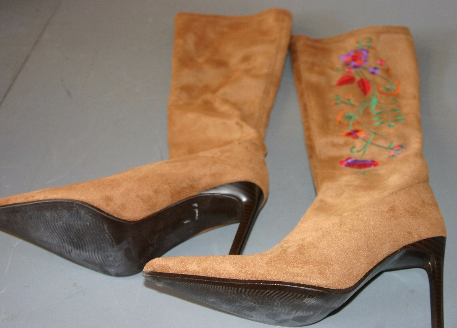 Jeffrey Campbell Vintage Womens Tan Suede boot