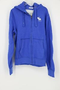 Abercrombie-amp-Fitch-Men-039-s-Hudson-Muscle-Jacket-with-Hood-Blue
