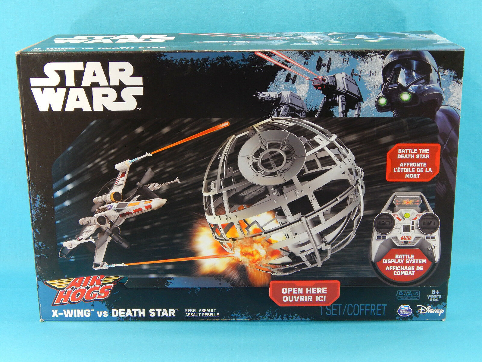 Air Hogs Star Wars X-Wing vs Death Star Remote Control Rebel Assault RC Drones