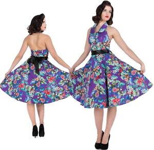 50s-Rockabilly-Retro-Halter-Pinup-Vintage-Swing-Dance-Dress-AU-sizes-8-18