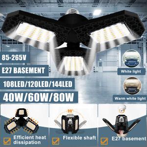 E27-85-265V-LED-Garage-Light-IP65-High-Bay-Lamp-Bright-Industry-Lightin-039-4800LM