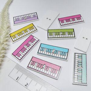 Das Bild Wird Geladen Knoepfe KLAVIER Tastatur 10stk HOLZ 13x30mm Naehen  Basteln