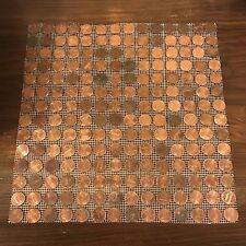 "(10x) Tile Sheets of US Copper Pennies. Actual Penny Tiles (12""x12"") - Random"