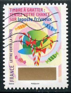 France Autoadhesif Oblitere N° 1344 // Timbre De Voeux