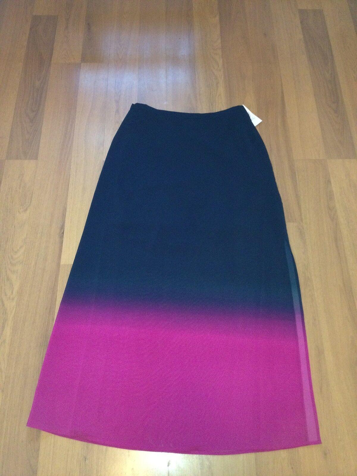 Vince Camuto Women's Skirt Long bluee & Pink Super Soft Skirt Size 8 Nwt