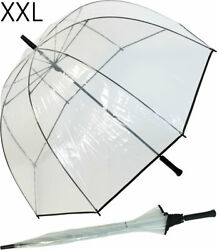 Regenschirm XXL durchsichtig transparent 102cm Glockenschirm Golfschirm Hochzeit