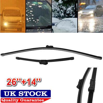 "Honda Accord Front Windscreen Wiper Blades Wipers Set Hook Type 26/"" 16/"" 03-08"