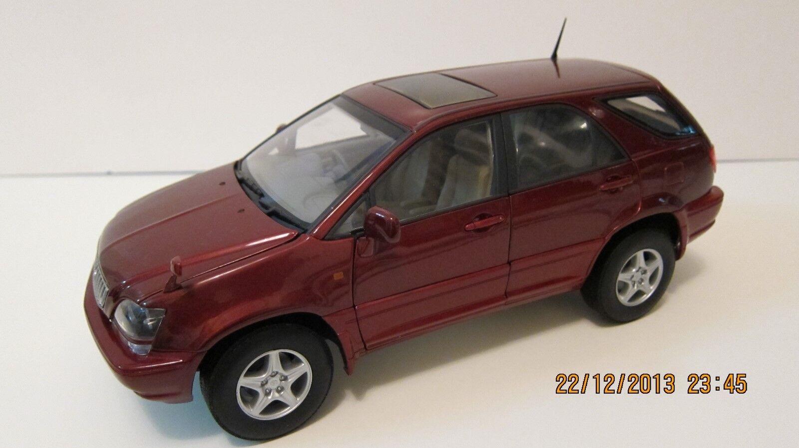 1 18 Autoart 1999 LEXUS RX300 Toyota Harrier RHD SUV Bourgogne diecast cars