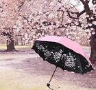 Fashion Sakura Windproof Anti UV Sun/Rain Princess Folding Umbrella Girls Gift