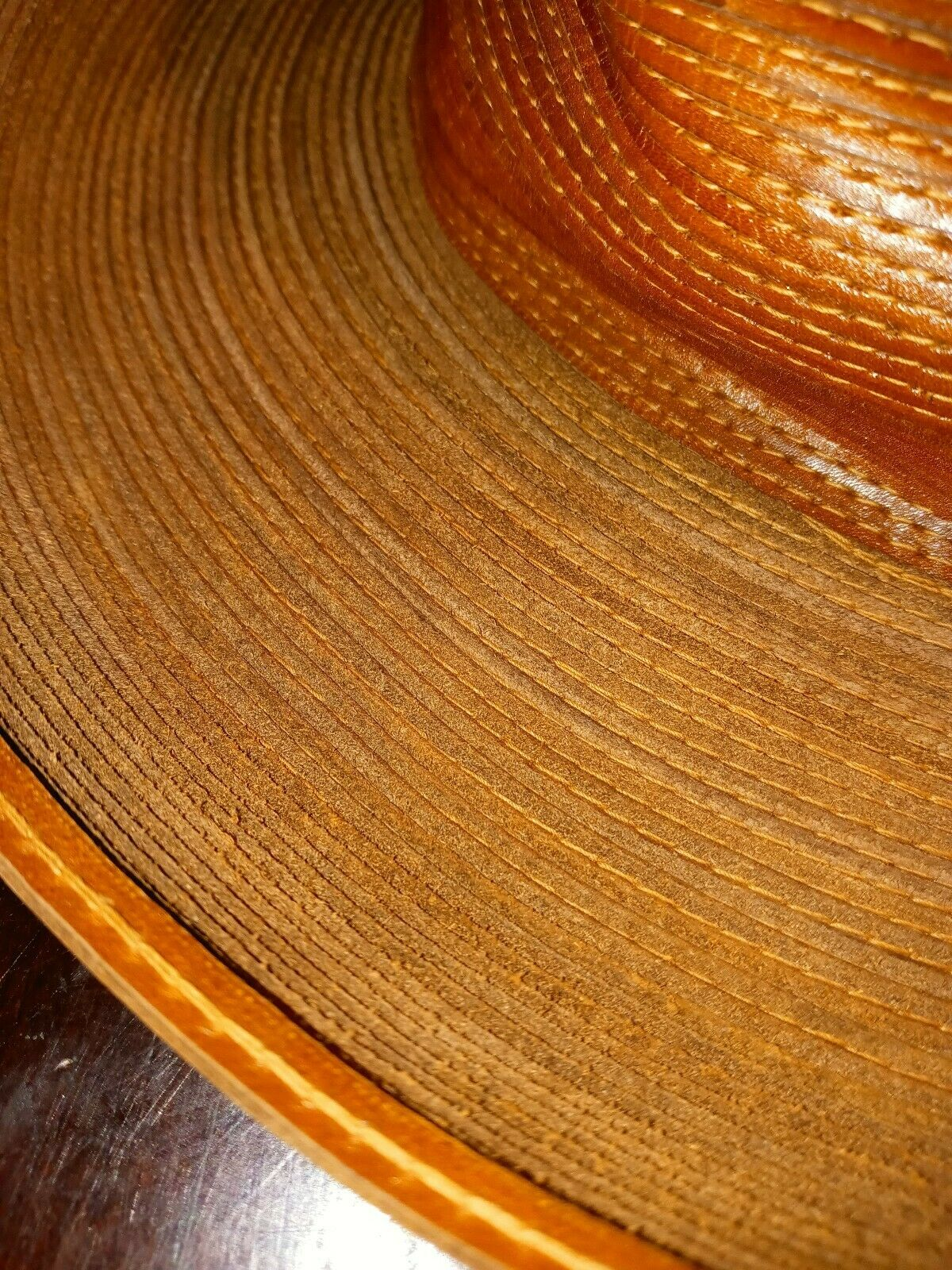 Patricia Underwood Hat Womens Wide Turned Brim Le… - image 6