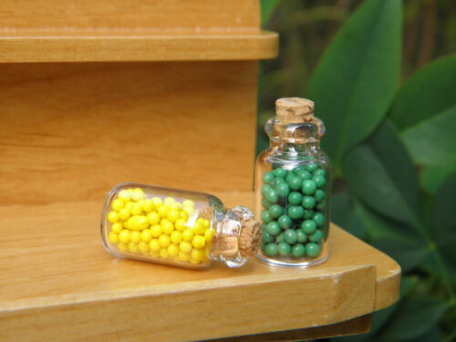 Miniature Dollhouse FAIRY GARDEN Accessories ~ Set of 2 Glass Canning Candy Jars