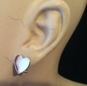 Solid-925-Silver-Polished-HEART-Earrings-stud-Hinged-Lever-Back-Fastening-03