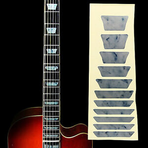 electric acoustic guitar inlay sticker fretboard markers scale white color ebay. Black Bedroom Furniture Sets. Home Design Ideas