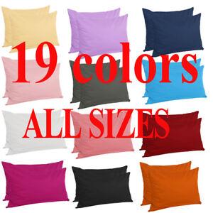 Zippered Pillow Cases Pillowcases Standard Queen King Egyptian