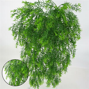 Artificial Plants Hanging Fake Macrame Fern Succulent Plant Green Outdoor Decors Ebay