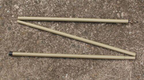 71 1//8 pouces Acier Tente Pole 3 Sect Tip 19 mm 3//4 in kaki Couleur de diamètre