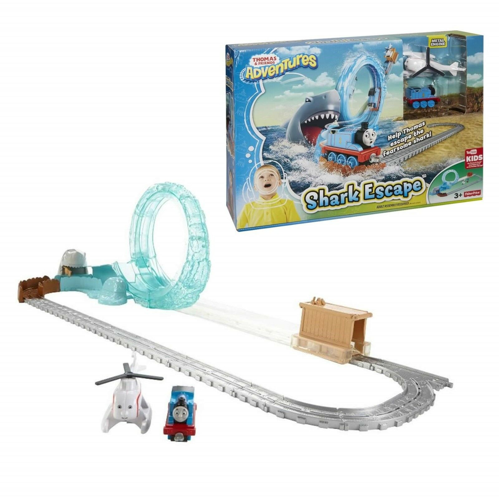 Thomas & Friends Adventures Toy Shark Escape Fisher Price Playset NEW BOXED
