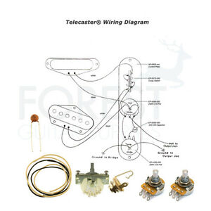 Details about Wiring Kit for Telecaster Electric Guitar Switchcraft, on fender squier stratocaster wiring-diagram, typical 3-way switch diagram, fender telecaster custom wiring diagram, fender guitar wiring diagrams, fender telecaster pickup wiring diagrams, telecaster texas special wiring diagram, fender p-bass wiring diagram, fender strat wiring diagram, fender 5 way tele switch wiring, 3 position toggle switch diagram, fender 4-way switch wiring, fender super switch wiring diagram,