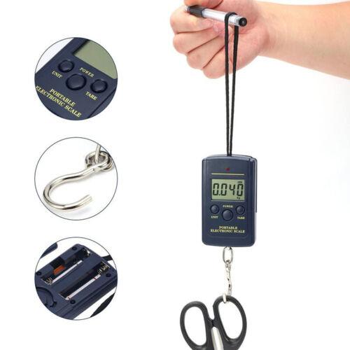 Portable Weighing Digital Hanging Scales Travel Fishing Mini 40kg//10g Electronic