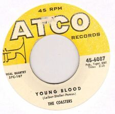 "THE COASTERS ""YOUNG BLOOD / SEARCHIN'"" DOO WOP GROUP 1957 SP ATCO 6087"