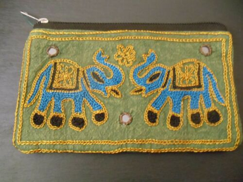 Elephant Clutch Bag Purse Pouch Fair Trade Sunglasses Phone Ethnic Mirrors Gift