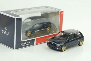 RENAULT-Clio-Williams-1993-BLU-SCURO-JET-CAR-1-43-NOREV-Diecast