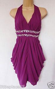 Image is loading BNWT-LIPSY-purple-embellished-chiffon-tulip-sexy-dress- 72a0fa06c