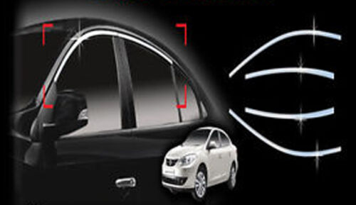 Top Window Accent Line Trim Ssangcarful 4P 1Set For 2010 2011 Fluence New SM3