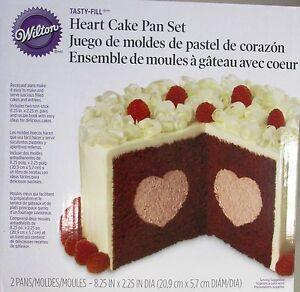 Wilton Heart Tasty Fill Cake Pan Set Kuchen Mit Herz Fullung Ebay