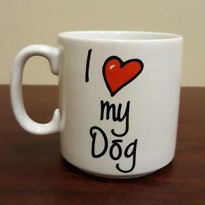 Image Is Loading I Love My Dog Pet Coffee Mug