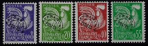 Francia-1960-Preannullati-Unificato-n-119-122-nuovi-MNH