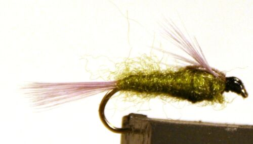 4-pack Available in size 10-14 ICE FLIES Nymph Blue Winged olive.