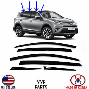 SMOKED DOOR VISOR WINDOW SUN VENT DEFLECTOR 6 PS fits for TOYOTA ... b3cd6a2e991