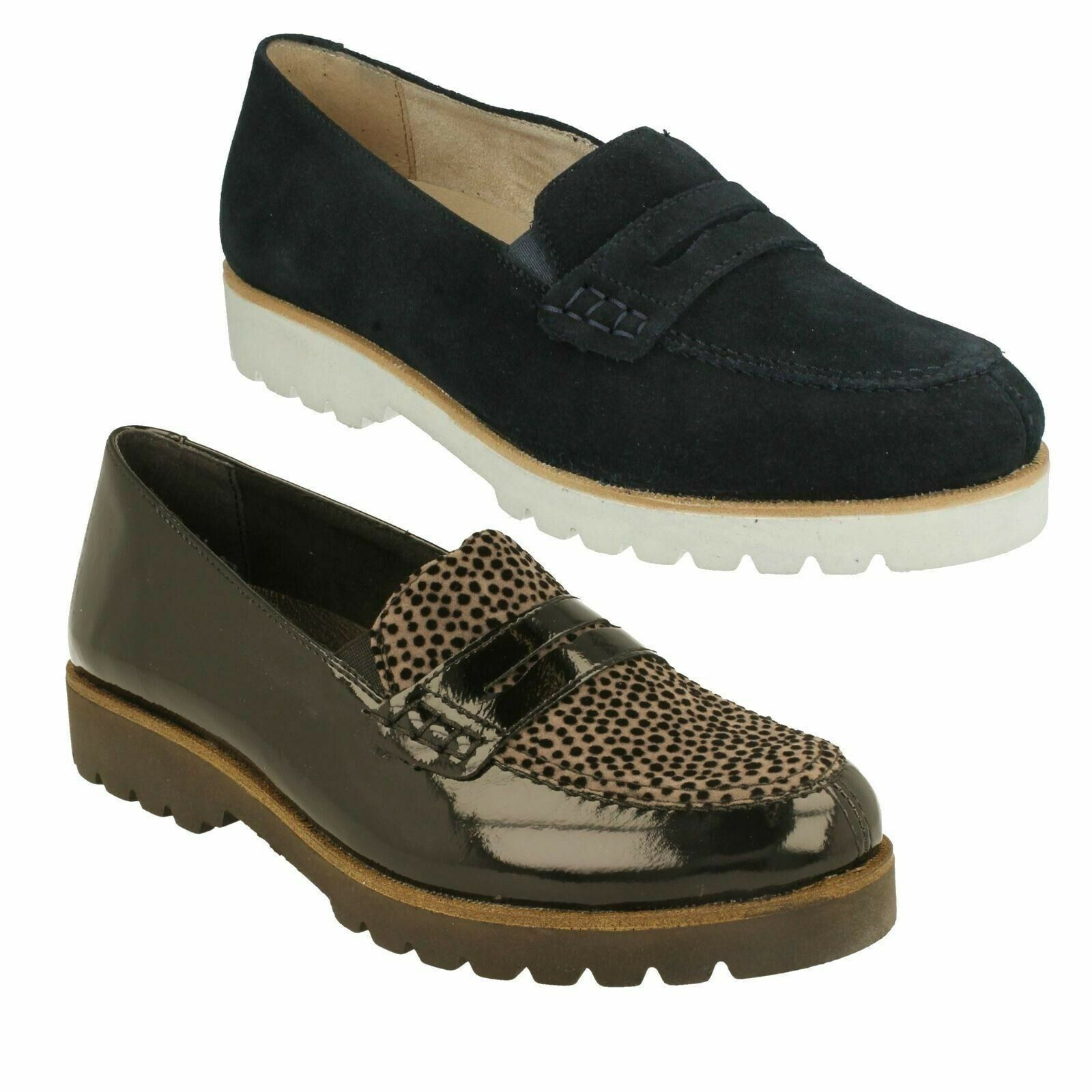 REMONTE D0101 LADIES SLIP ON CASUAL FLAT LEATHER SMART
