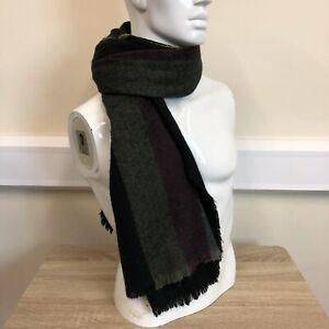 Next-Mens-Black-Multi-Coloured-Stripe-Wool-Knit-Warm-Winter-Smart-Neck-Scarf