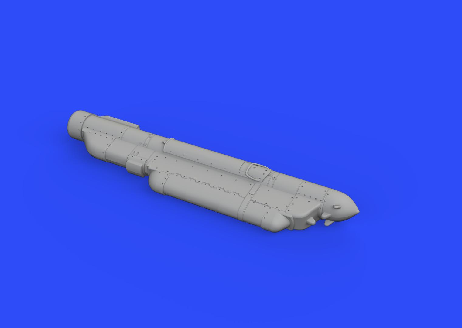 Eduard 648362  1//48 AN//ALQ-184 PE /& Resin ECM Pod Short